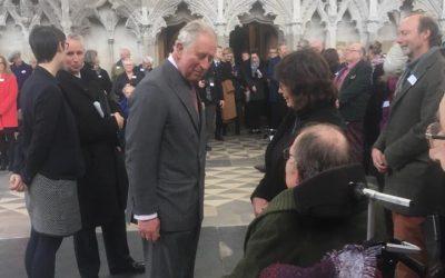 Steel Bones Meets HRH Prince of Wales