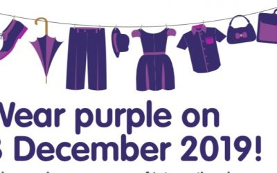 WEAR PURPLE FOR INTERNATIONAL DAY FOR PERSONS WITH A DISABILITY 💜💜💜